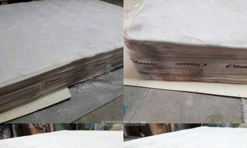 Чистка матрасов после транспортровки фото до и после