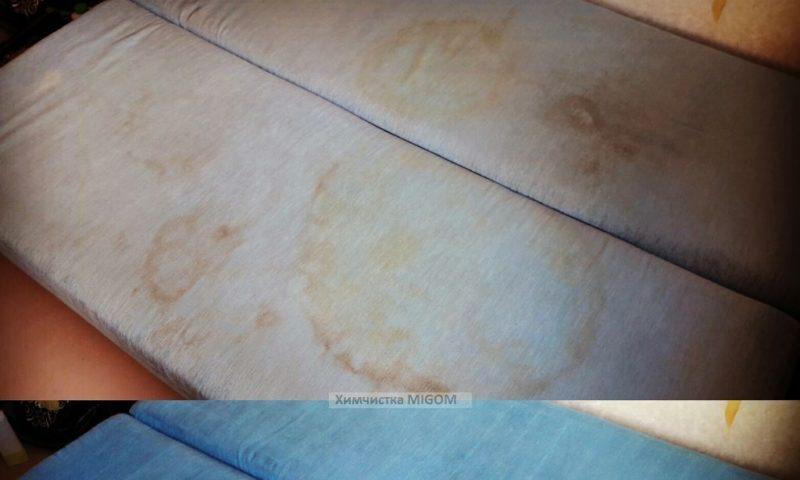 химчистка диванов Адлер фотография до и после