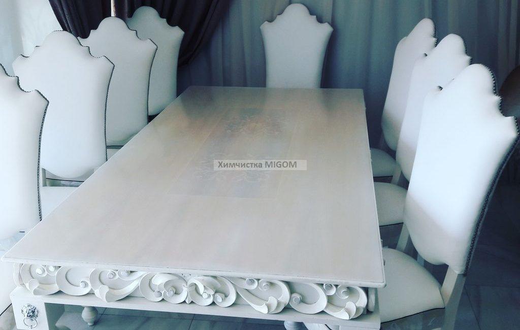 Чистка белых больших стульев на ул Благодатная